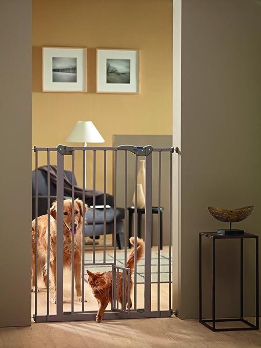 SAVIC 107 cm perro barrera con puerta de gato