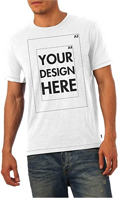 capacità molto Tuttavia  Create Your Own Custom Personalised Mens T Shirt! Any Text, Any Photo,  Approx Up to 14