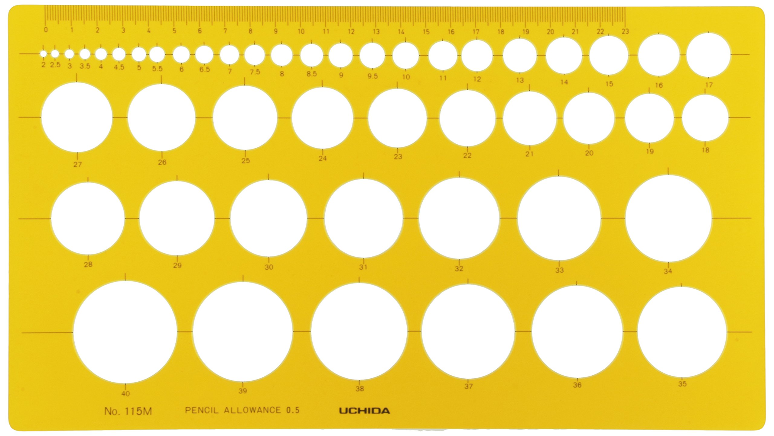 Uchida template No.115M yen ruler ink edge with 1-843-0115 (japan import)