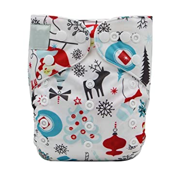 Amazon.com : Fairy Baby Christmas Cloth Diaper Adjustable Baby ...