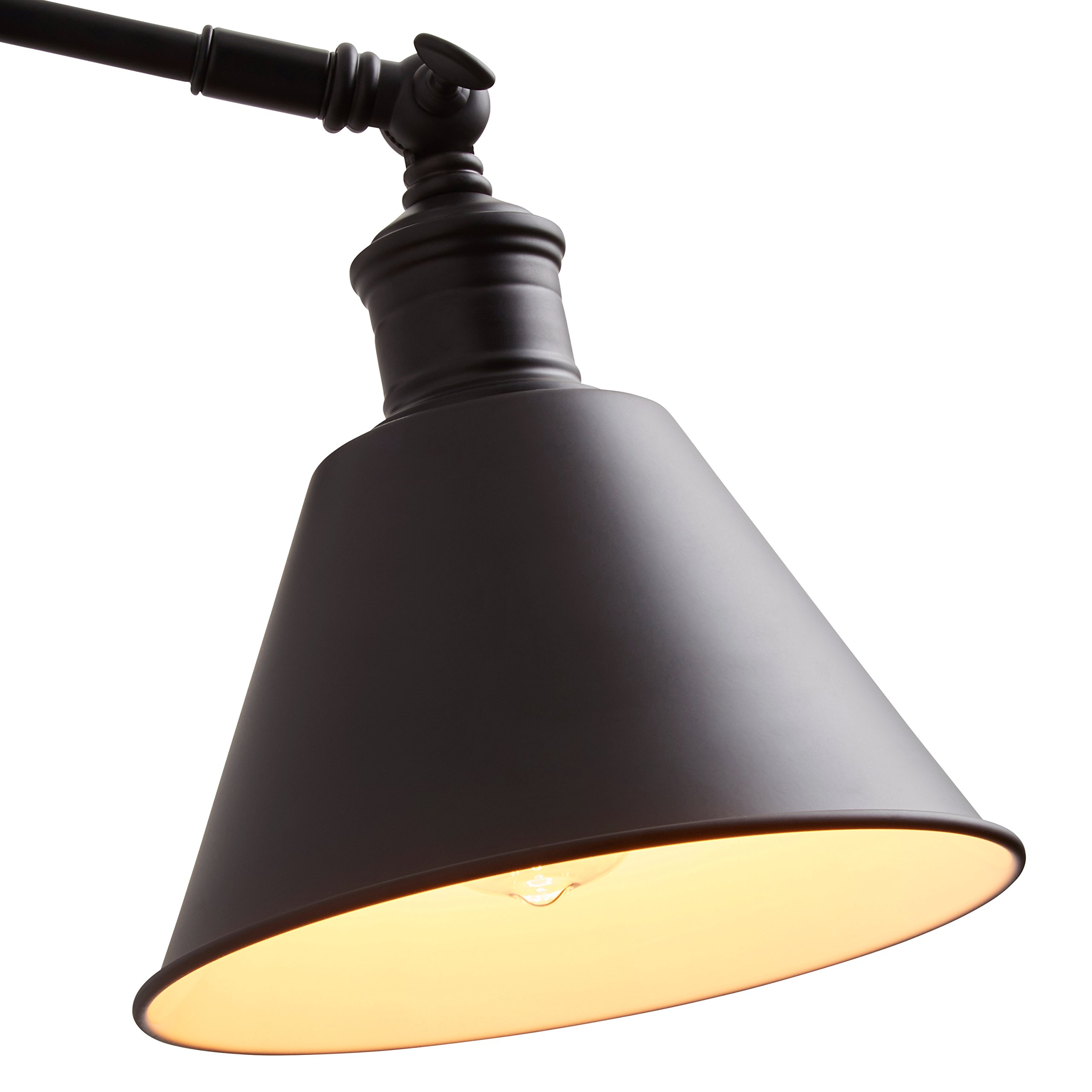 Stone & Beam Modern Wall Sconce, 12.5''H, With Bulb, Matte Black by Stone & Beam (Image #7)
