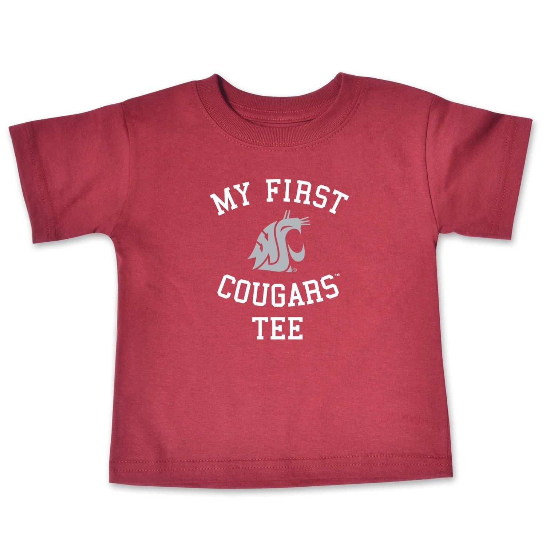 College Kids NCAA Washington State Cougars Infant Short Sleeve Tee Cardinal 18 Months