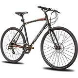Hiland Road Hybrid Bike Disc Brake 700C Wheels 24 speeds Bikes