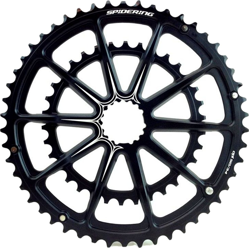 Cannondale SpiderRing Road Chainring 50/34T Black