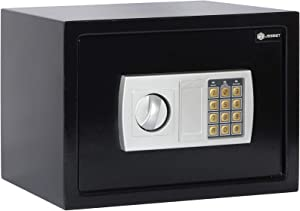 Jssmst Money Safe Box, 0.5CF Security Digital Safe for Home Office, Personal Safe Lock Box with Electronic Keypad, Home Safes and Lock Boxes, SM-SF029, Black