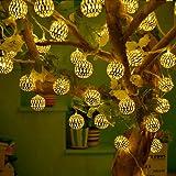 RaajaOutlets LED Hanging Lantern String Ball Lights (Golden)