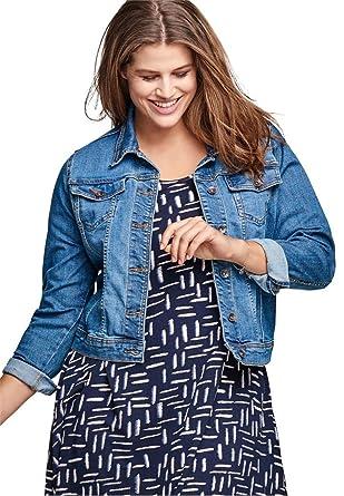 292be37a188 Ellos Women s Plus Size Classic Jean Jacket at Amazon Women s Coats Shop