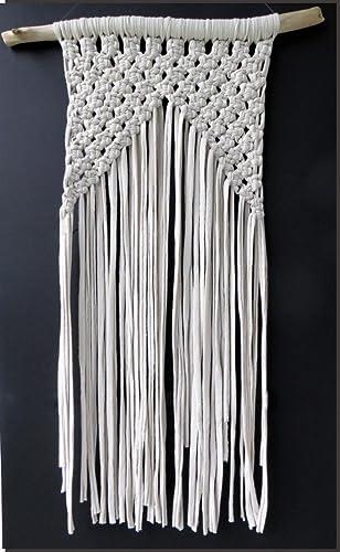 Tapiz de macrame con algodón ecológico: Amazon.es: Handmade