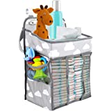 Zwini Baby Nursery Organizer Colgante portátil Pañal Pañal Caddy Organizador Muitifuctional Pañal Pañal Juguetes Bolsa…
