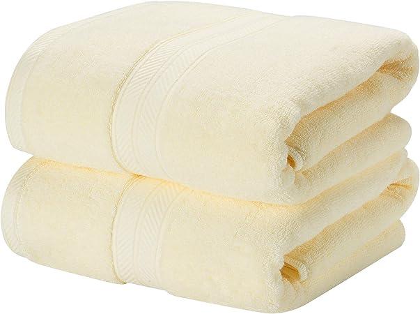 TenMotion Toallas de Ducha, 100% algodón Juego de 2 Toallas de ...