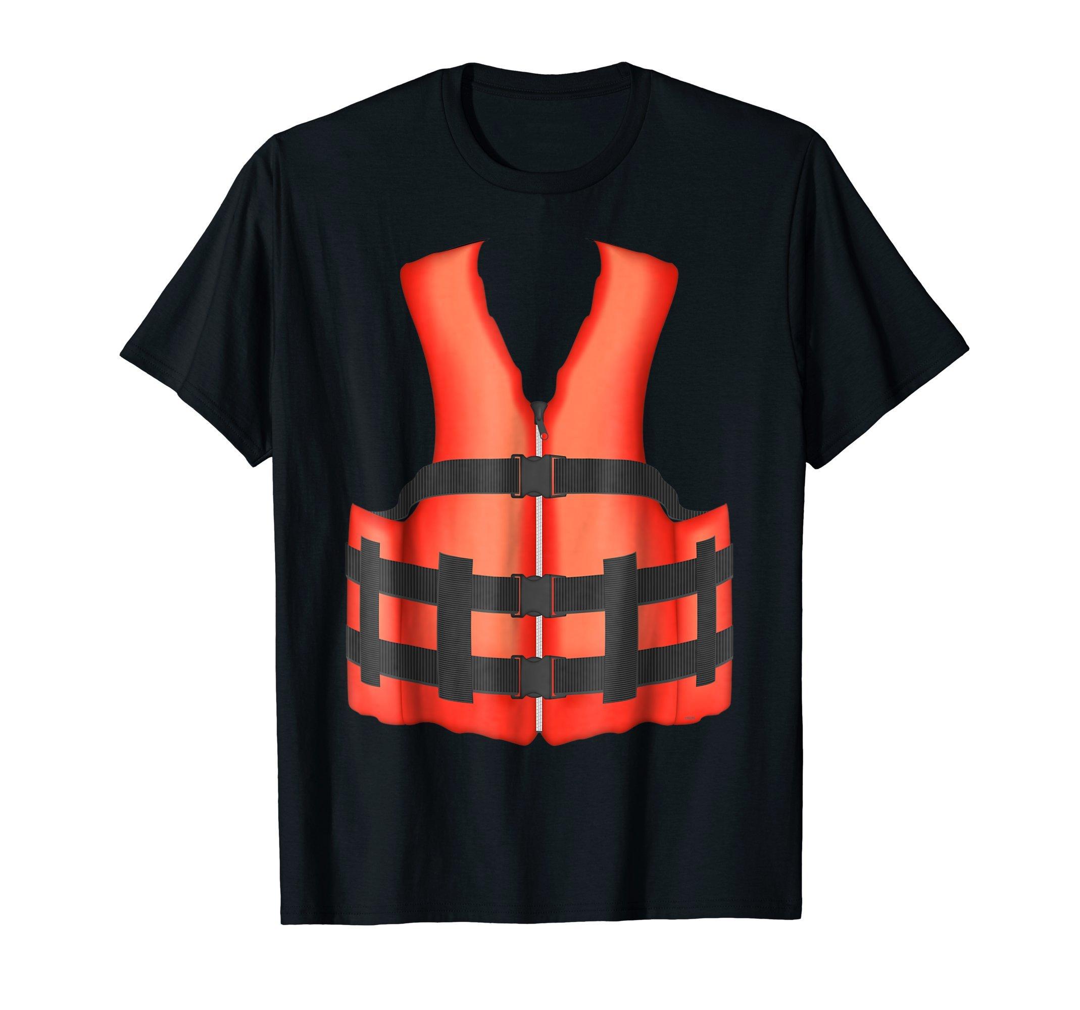 Realistic-orange-life-vest-jacket-Summer-T-Shirt-Gift-Shirt