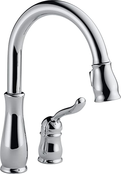 567659074fb5 Delta Faucet Leland Single-Handle Kitchen Sink Faucet with Pull Down  Sprayer and Magnetic Docking Spray Head