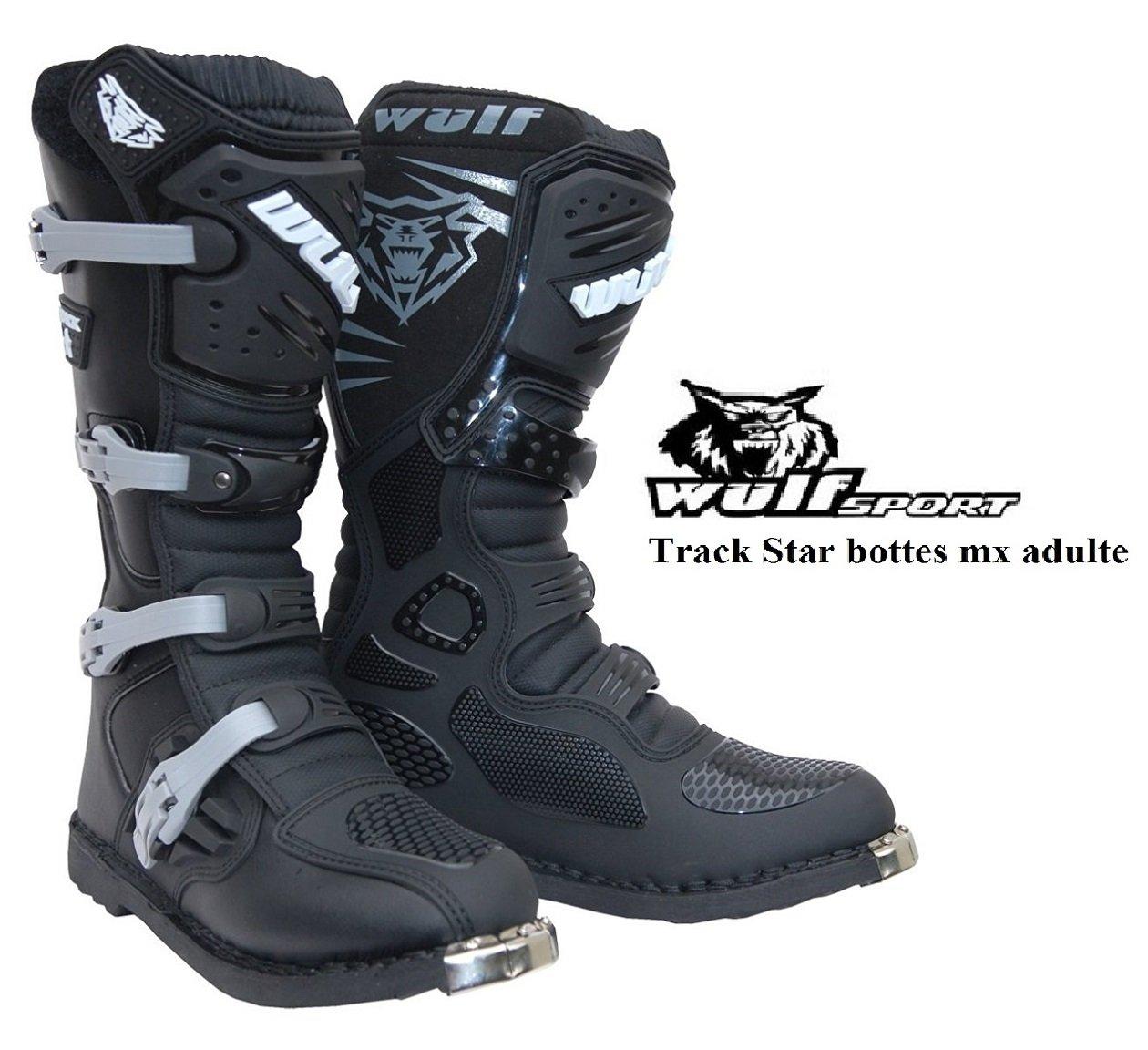EU 44, Blanc Bottes Moto Adultes WULF Track Star MX Motocross Enduro Quad Course Chaussures Nouvelles 2016