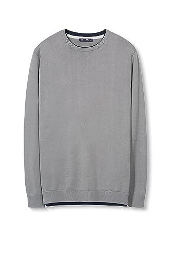 017EE2I014, suéter Hombre, Gris (Gunmetal), Small Esprit