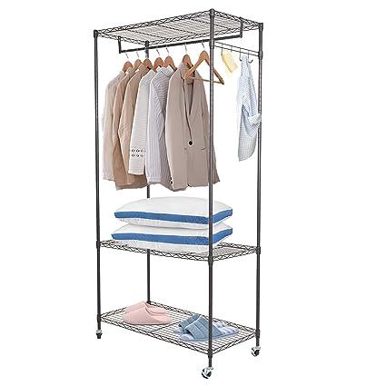 Karmas producto portátil Garment rack armario sistema ...