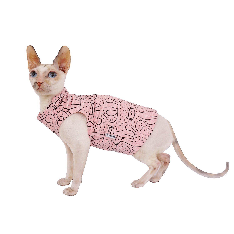 Kotomoda Abbigliamento per Gatti Gatto Rose (L)