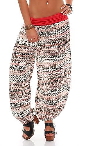 Malito - Pantalones estilo étnico y holgados 7192 (talla única)