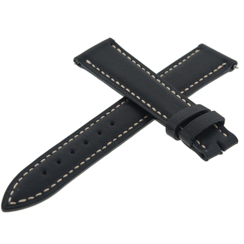 Franck Muller Geneve 20 F Leder schwarz 16–14 mm Armbanduhr Band