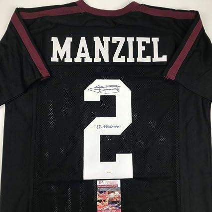 Autographed/Signed Johnny Manziel 12 Heisman Texas A&M Black ...