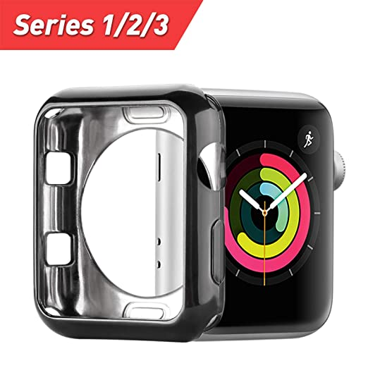 Apple Watch Case 38mm Funda Suave Slim TPU iWatch Case Resistente a los Arañazos Protector Parachoques