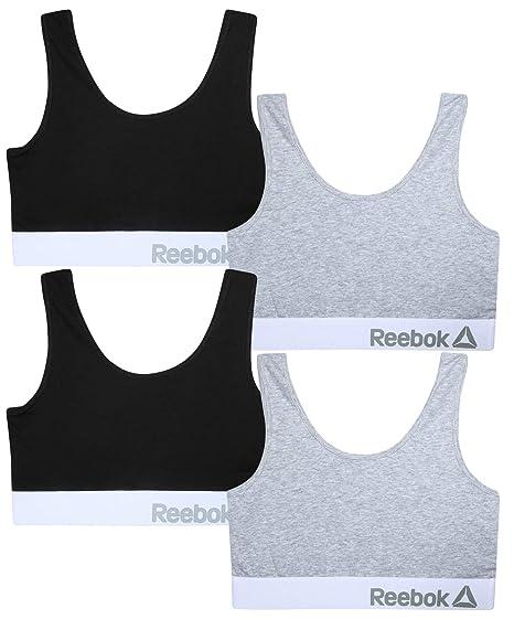 a4894b57 Reebok Women's 4 Pack Cotton Performance Bras