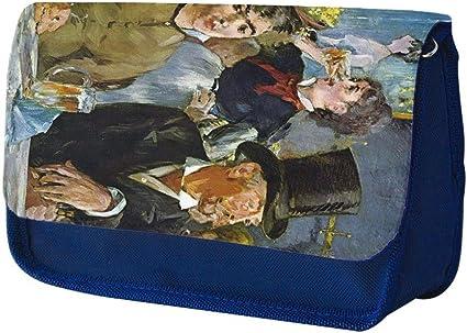 Manet Cafe Concert, Azul Escuela Niños Sublimación Alta calidad Poliéster Estuche de lápices con Diseño Colorido. 21x13 cm.: Amazon.es: Oficina y papelería