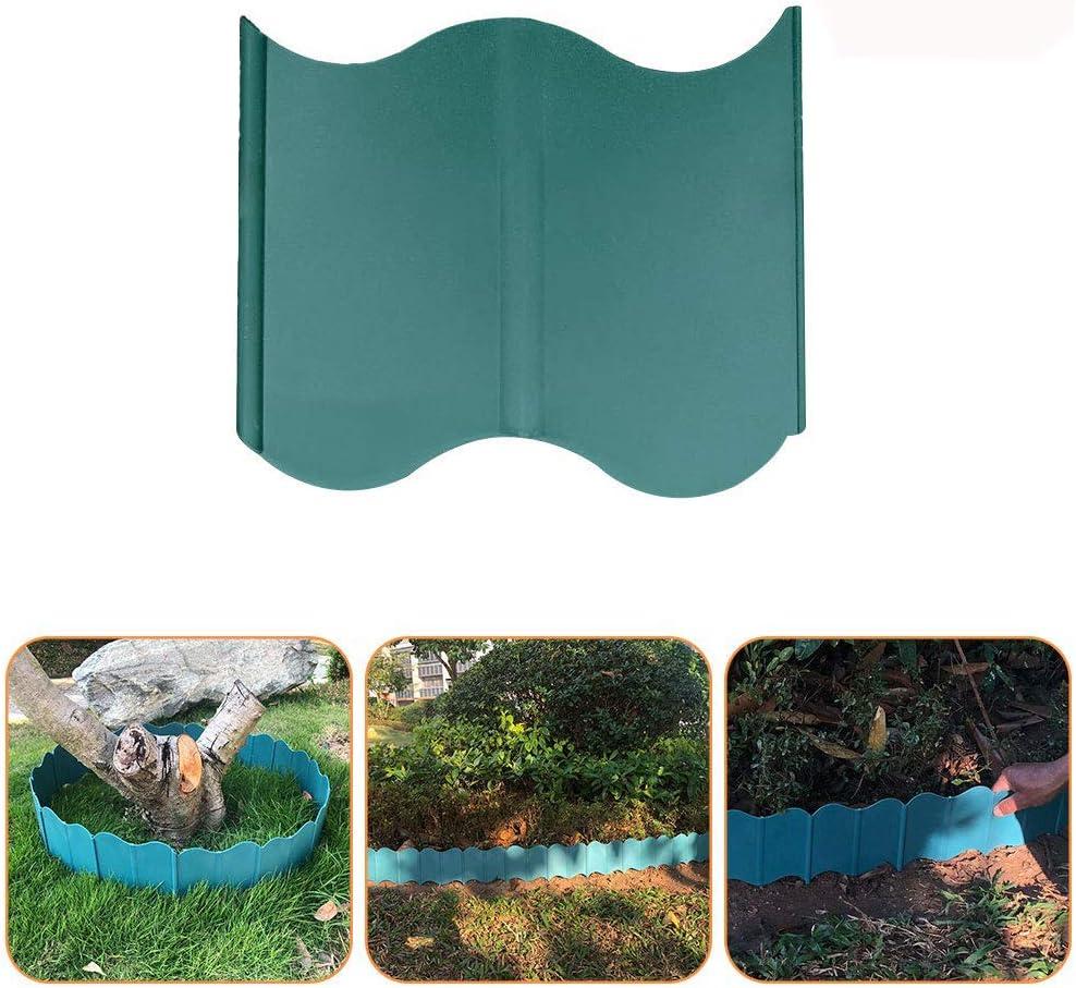 caiyuangg 20 Pack Landscaping Edging Leaf Scoops Hand Rakes Garden Border Interlocking Lawn Edging Plastic Green (Landscaping Edging)