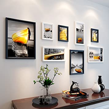Anyer Salon Photo Murale Maison Moderne en Bois Massif Cadre Photo ...