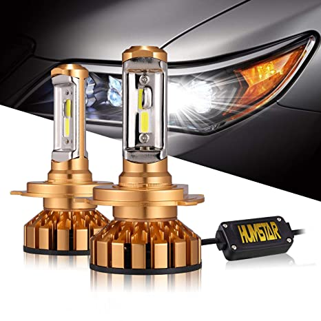 H4 9003 Led Headlight Bulb, Mini Design 8000LM 6000K 60W CSP Chips with Anti Flickering