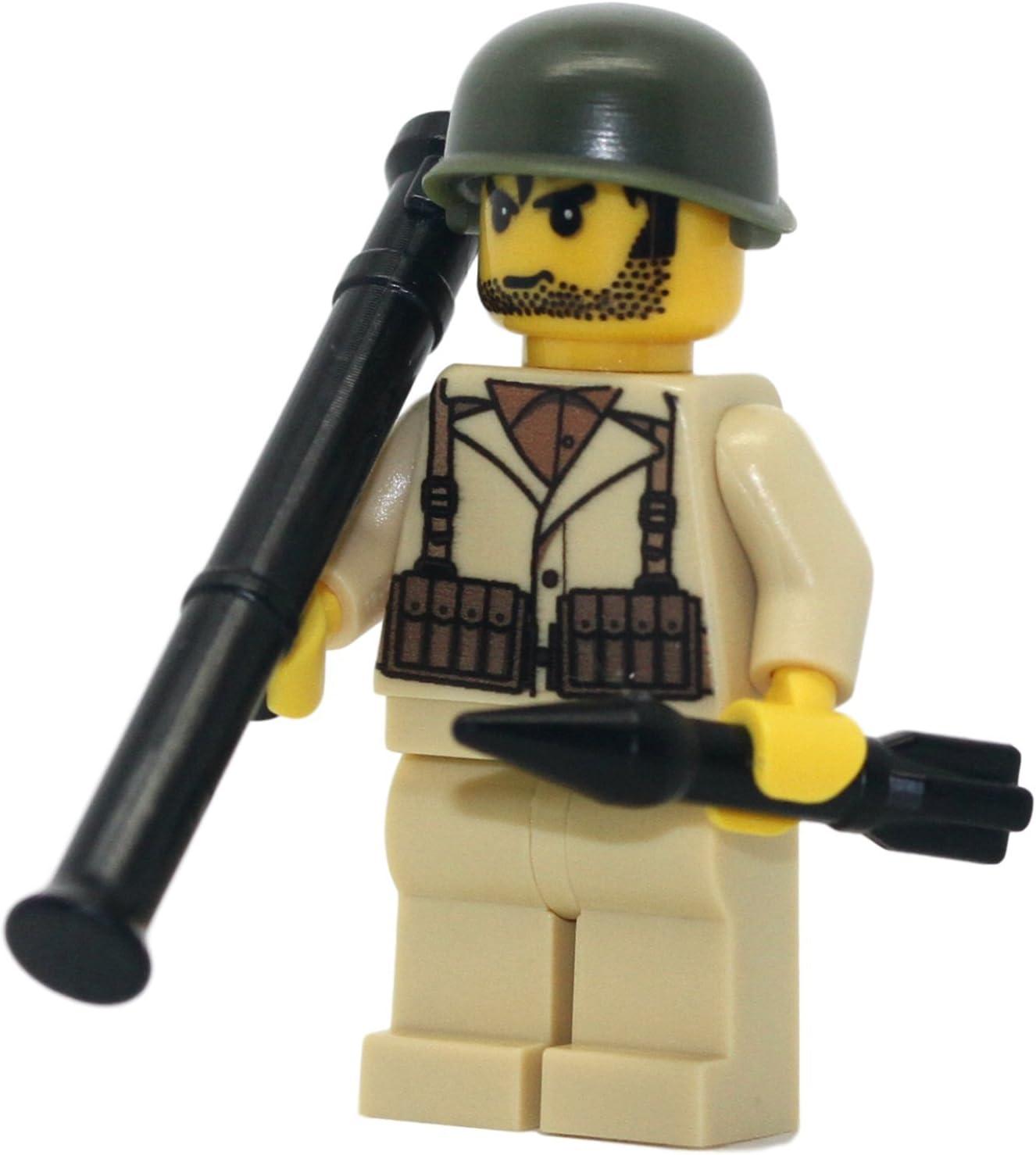 WW2 CUSTOM GERMAN LOGO HELMETS X3 FOR MINI FIGURES
