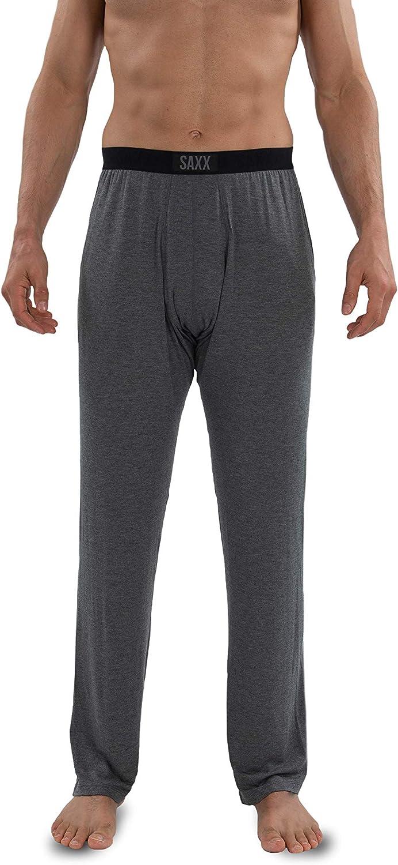 Saxx Underwear Men's Sleepwalker Ballpark Lounge PJ Pants with Built-in Ballpark Pouch Support – Men's Sleep and Lounge Wear