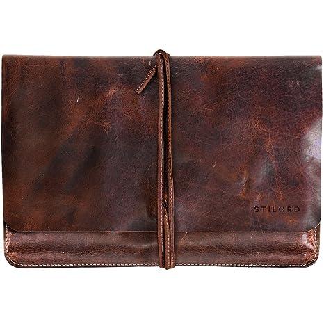 STILORD Collin Funda Protectora de Piel Estilo Vintage para Tablet o portátil de 9.7-10 Portafolio o Bolsa portadocumentos de auténtico Cuero, ...