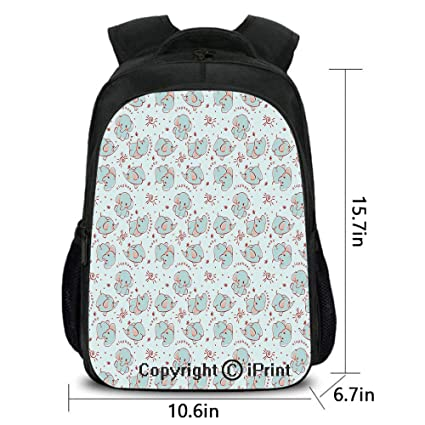 8400a496ffe9 Amazon.com: Lady Custom Backpack,Young Wild Animals Pattern for ...