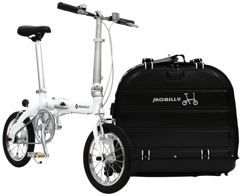 RENAULT(ルノー) LIGHT8 AL-FDB140 特別企画 TPUキャリーケース+折りたたみペダルセット 軽量小型14インチ 8.3kg 折りたたみ自転車と専用TPU製折りたためるサイクルキャリーケースとwellgo製折りたたみペダルを特別企画セット 11263 B079PDQ6JLホワイト