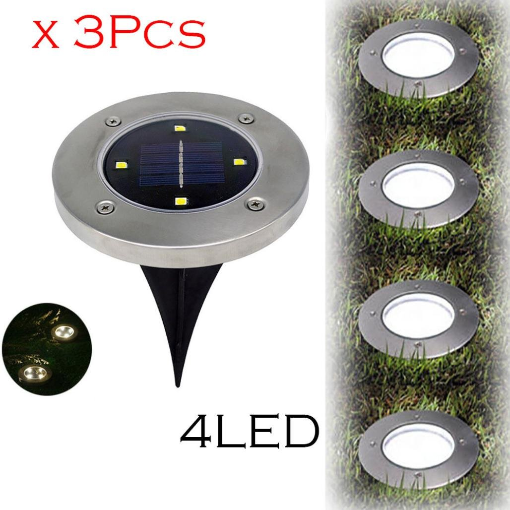 Sunfei Solar Ground Lights, Garden Pathway Outdoor Waterproof In-Ground Lights With 4 LED