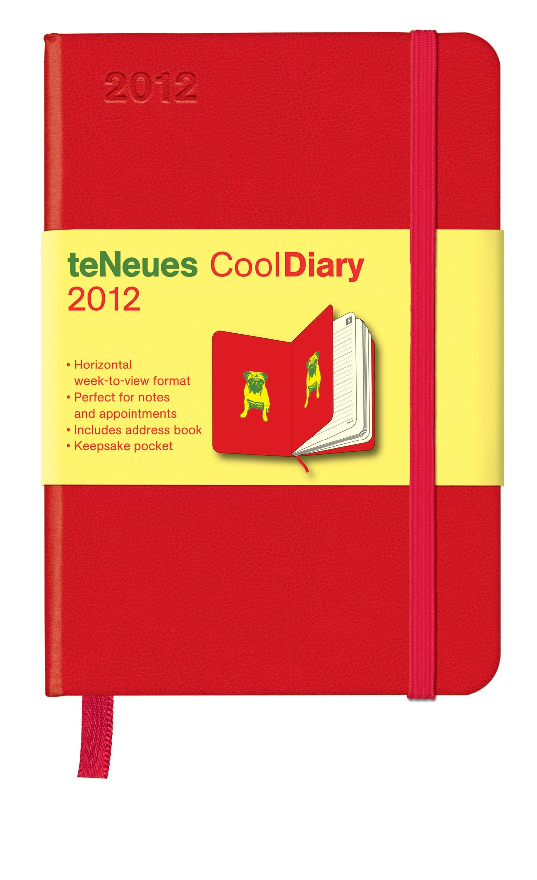 Cool Diary Wochenkalender Red/ Pug Yellow 2012, small
