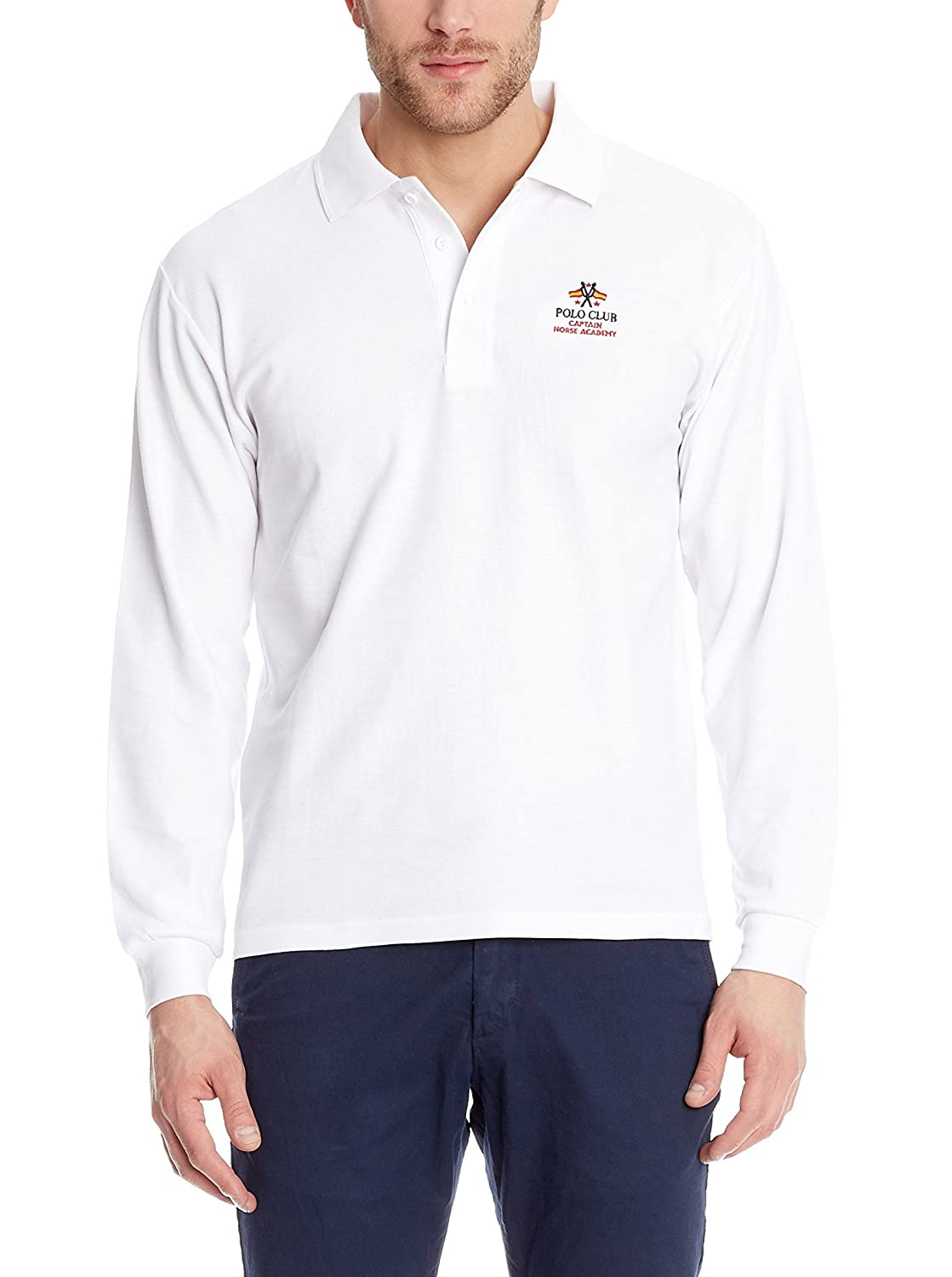 POLO CLUB Polo Regular Fit Blanco 2XL: Amazon.es: Ropa y accesorios