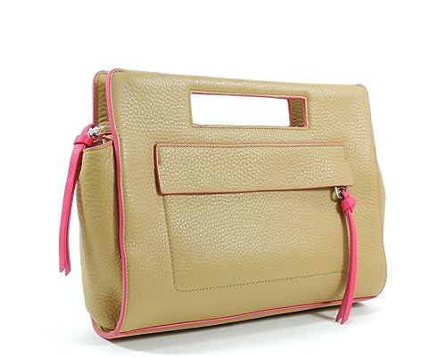 Coach - Cartera de mano de Piel para mujer Beige Camel / Pink Ruby: Amazon.es: Zapatos y complementos