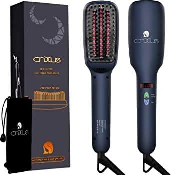 CNXUS Ionic Portable Frizz-Free Hair Straightener Brush