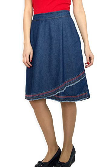 6bb59d763 Souvenir-Fashion New Womens Blue Denim Sport Cotton A Line Casual Business  Casual Skirt Size UK 810 12 14 16 18 20 22: Amazon.co.uk: Clothing
