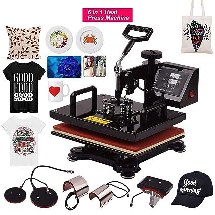 Aibecy Máquina de prensa de calor combinada 6 en 1 Máquina de ...