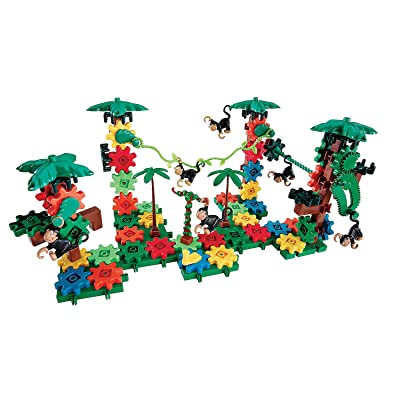 Fun Express - Movin' Monkeys Building Set - Educational - Learning Aids - Manipulatives - 136 Pieces: Toys & Games
