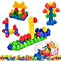 MECY STEM 60-Piece Interlocking Soft Plastic Building Blocks Sets