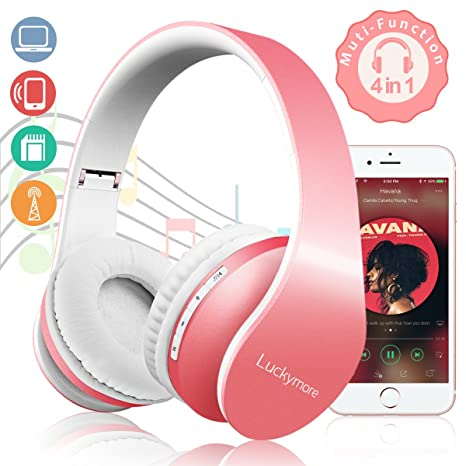 Bluetooth Headphones Hi-Fi Stereo Wireless Headset Over Ear Headphones Noise Cancelling Foldable Earphones,
