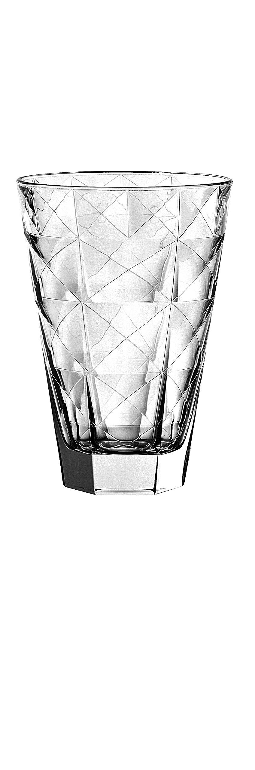 Barski - European Glass - Hiball Tumbler - Artistically Designed - 14.5 oz. - Set of 6 Highball Glasses - Made in Europe