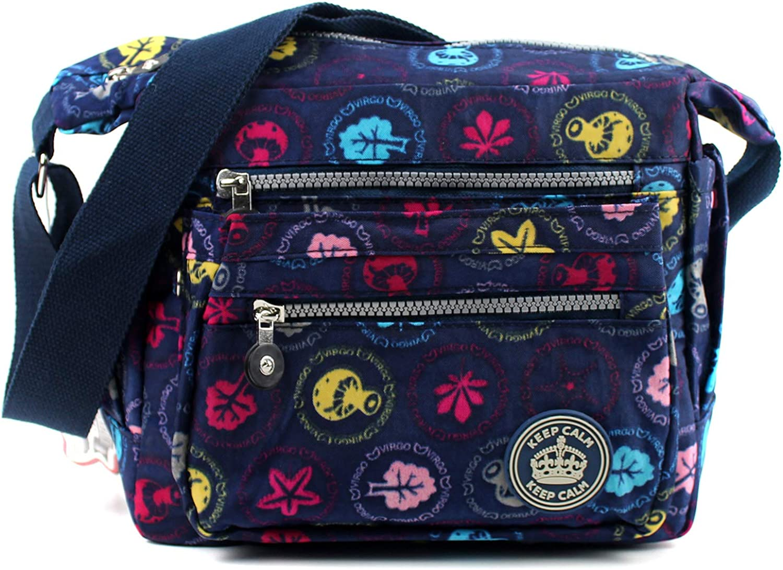 Ladies Womens Assorted Pattern Medium Lightweight Shoulder Cross Body Bag