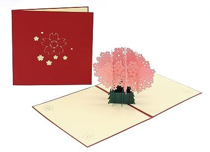 Tarjeta de felicitación con diseño de flores, tarjeta 3D ...