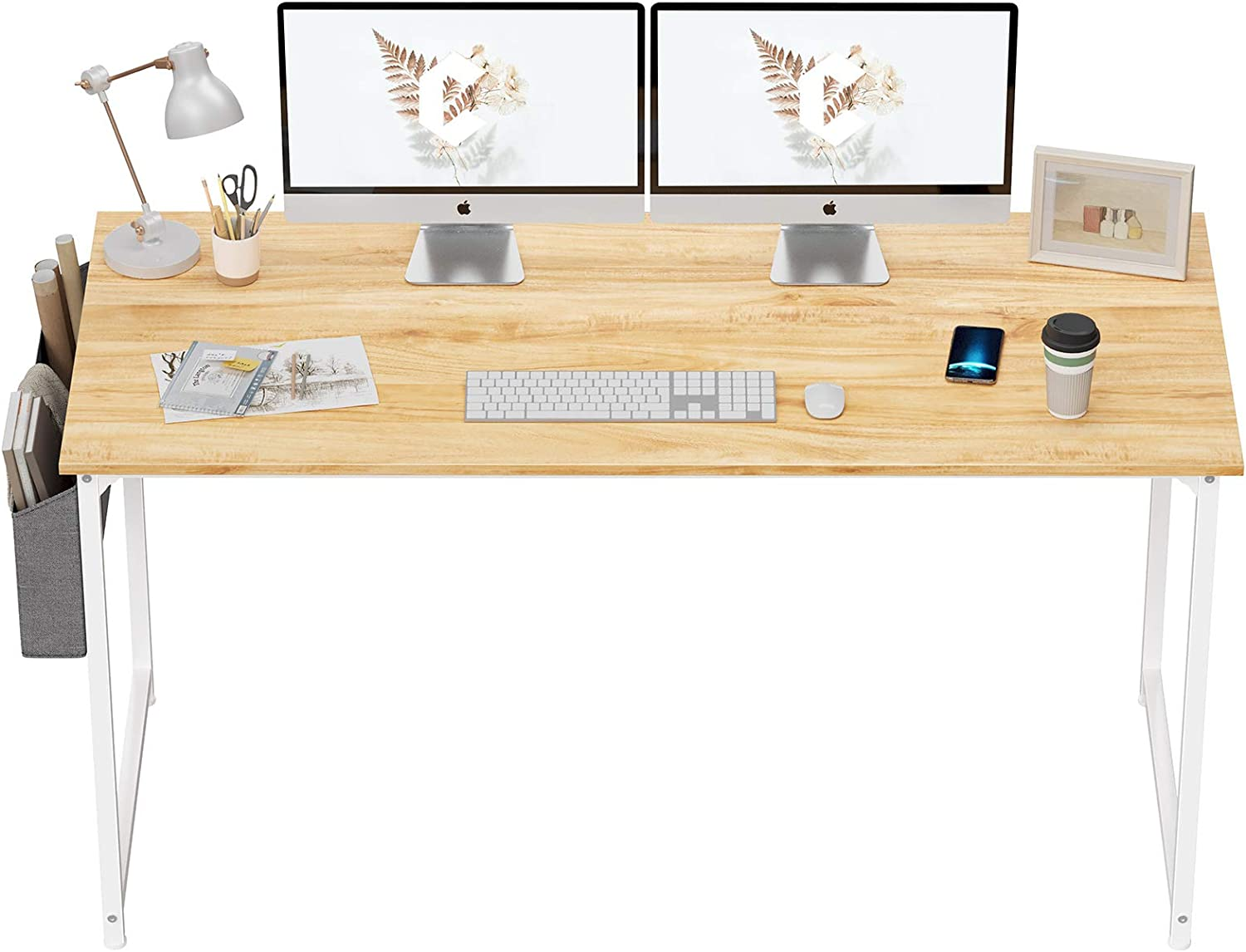 """CubiCubi Computer Desk 63"""" Study Writing Table for Home Office"""
