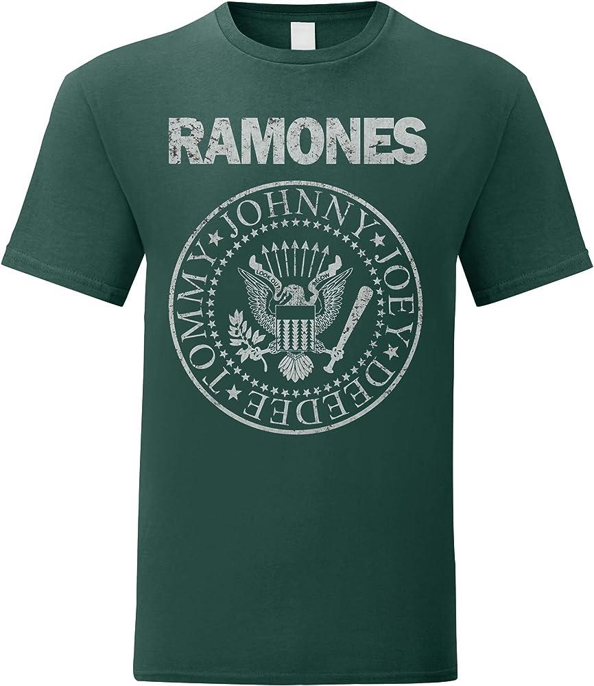 LaMAGLIERIA Camiseta Hombre Ramones - Grunge Print - T-Shirt Punk Rock Band 100% algodòn, S, Verde: Amazon.es: Ropa y accesorios