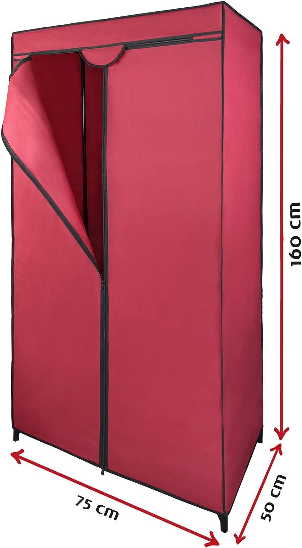 Armario ropero de Tela guardarropa de Tejido Klaus 75 x 50 x 160 cm de BB Sport, Color:Kirschrot: Amazon.es: Hogar